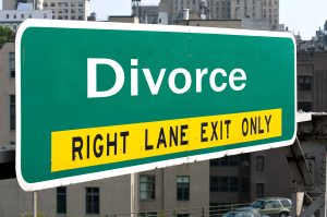 Divorce Sign - Right Lane Exit Only